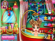 Baby Christmas Bath game