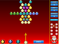 Christmas Marble Popper game