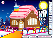 Juega al juego gratis Winter House Decoration