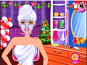 Charming Barbie Christmas Makeover game