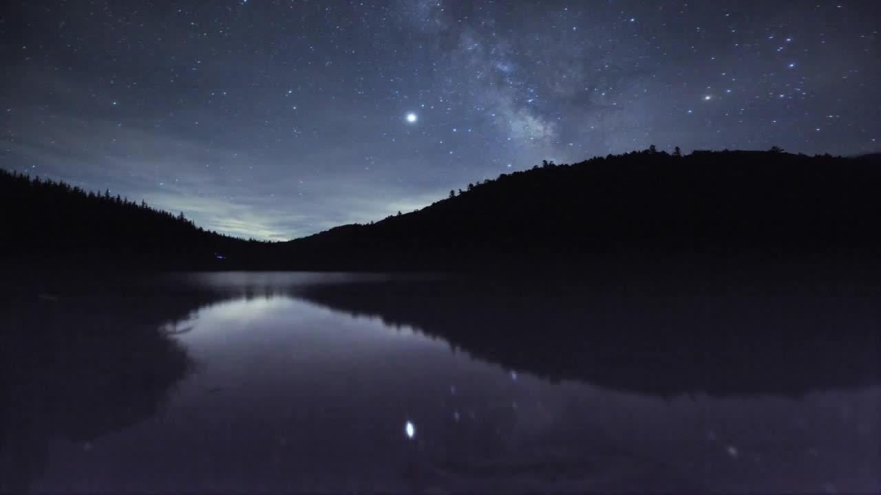 Watch free video Time Lapse Milky Way at Futago Lake