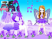 Purple Butterfly Dress up لعبة