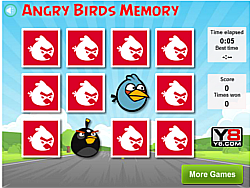 Angry Birds Memory Game game