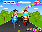 Juega al juego gratis Go For Ride Kiss