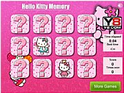 Juega al juego gratis Hello Kitty Memory Free Game