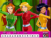 Totally Spies Hidden Letters game