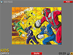 Power Rangers Puzzle game