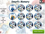 Smurfs Memory Game game