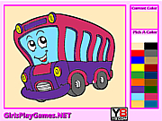 Kids Coloring Bus game