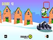 Santa Snowboarding game