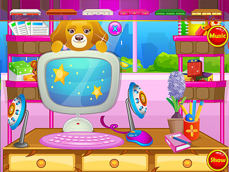 Play my computer decor game online y8 com for Room decor y8
