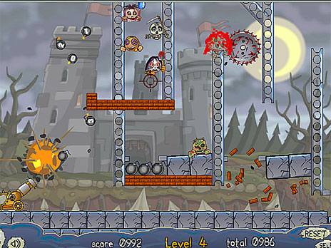 Roly-Poly Cannon: Bloody Monsters Pack 2 game