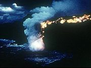 Watch free video Hot Lava Flows Into The Ocean