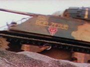 Watch free video Iwo Jima - Armored Vehicles Move Inland