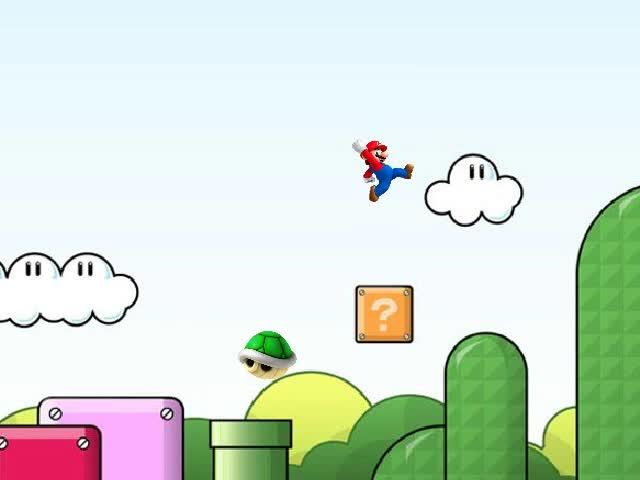 Mira dibujos animados gratis Optical Illusion: Relative Motion (Super Mario)