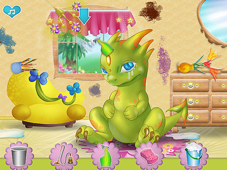 Play dragon home cleaning game online y8 com for Decor y8