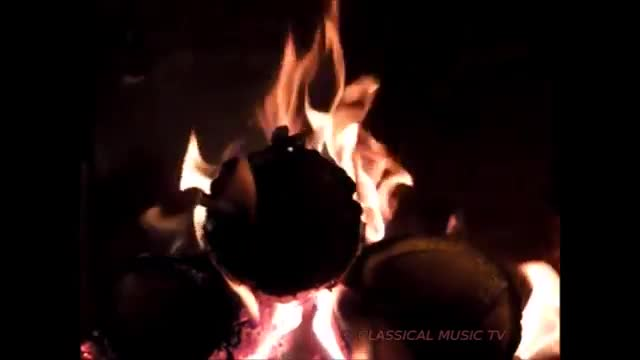 Watch free video Flames in the Macro and Classical Music