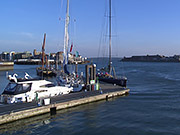 Watch free video Portsmouth Harbour at Dusk