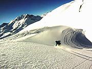 Watch free video Snowboarding Off-Piste Slow Motion