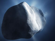 Watch free video Comet Tempel 1 closeup (artist's impression)