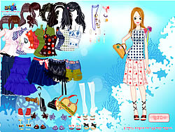 Play Bold Fashion Dress Up game online Y8