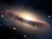 Watch free video 3D Animation of a galaxy