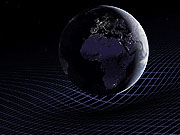 Watch free video Animation of Earth and the fabric of space