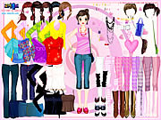 Selma Pink Dress Up game