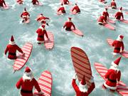 Watch free video ALDI Ad: Surfing Santas