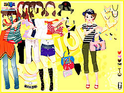 Play Yellow Casual Dress Up game online Y8