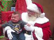 شاهد كارتون مجانا Baby Sees Santa For The First Time And Cries!