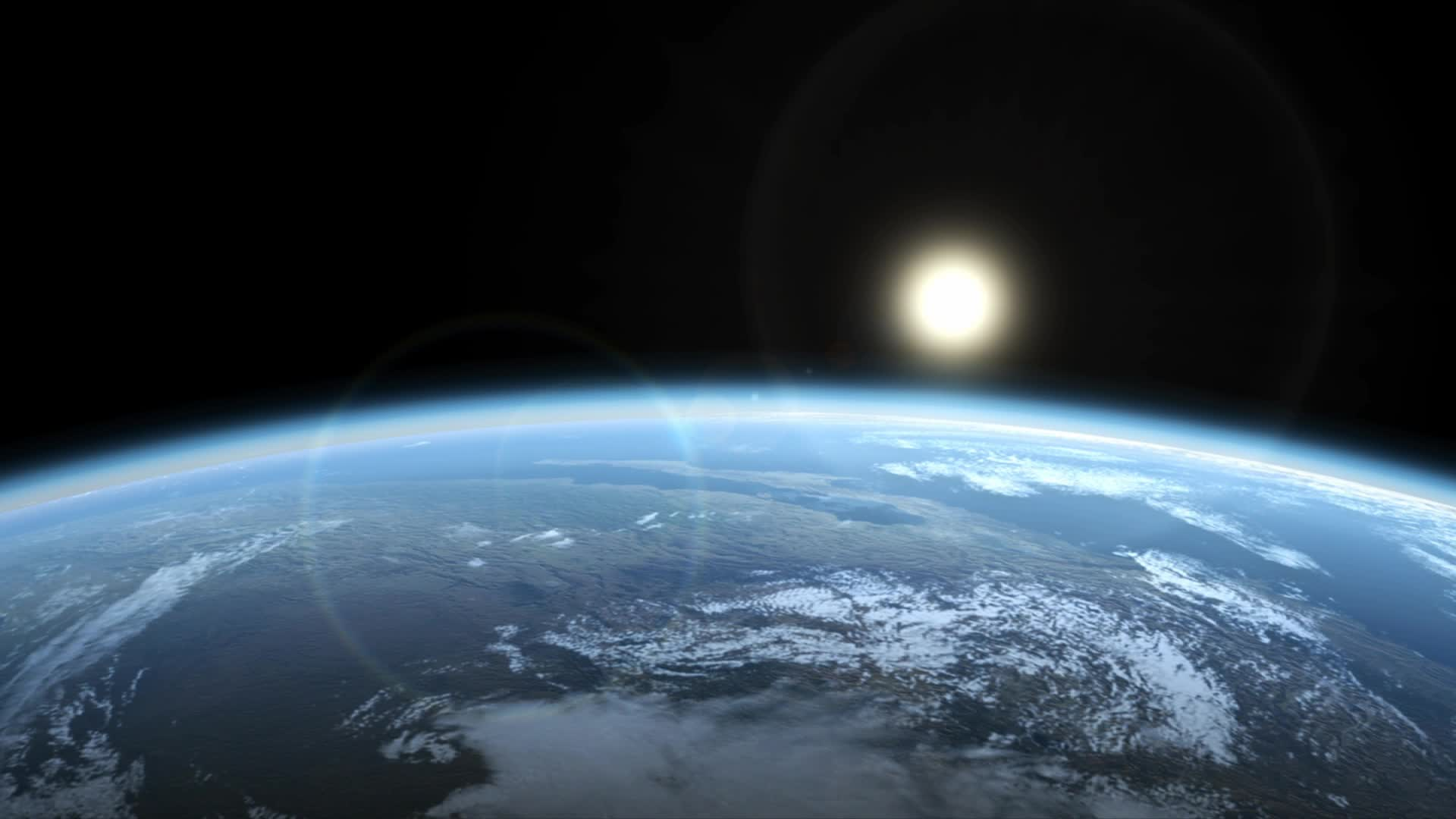 Watch free video Earth rotating (artist's impression)