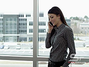 Watch free video Panning View of Woman Making Call