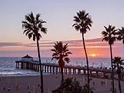 Watch free video Timelapse at Manhattan Beach in California