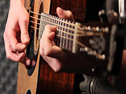 Watch free video Acoustic Guitar Player in Studio Close Up