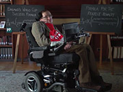 Watch free video Professor Stephen Hawking at the World Cup