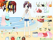Beach Doll Dressup game