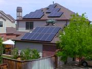 Watch free video Residential Photovoltaic Solar Panels B-Roll