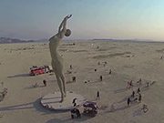 Watch free video Drone's Eye View of Burning Man 2013