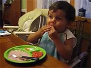 Watch free video Kid Eating
