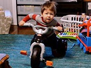 Watch free video Quentin Tries Out His New Trike