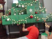 Watch free video Life Size Minecraft Christmas Tree
