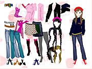 Colorful Girl Dress Up لعبة