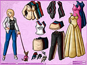 Juega al juego gratis Anime Girl and Dog Dressup