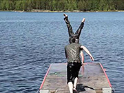 Watch free video Crazy Guys Jumping Into Water