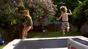 Watch free video Kid Have Fun on the Trampoline