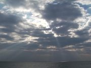 Watch free video Dramatic Clouds Over the Ocean in Time Lapse