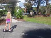 Watch free video Violet On Hoverboard
