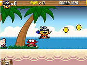 Juega al juego gratis The Puke Pirate