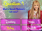 Jogar jogo grátis Hannah Montana Trivia